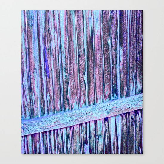 Blue Abstract Fence Canvas Print