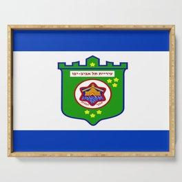 flag of tel aviv Serving Tray