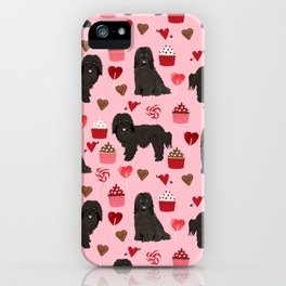 Havanese black coat cupcakes valentines day love dog breed gifts pure breed must haves iPhone Case
