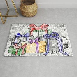 Coloured Christmas Presents Rug