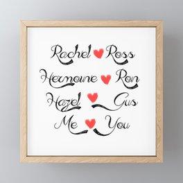 Valentine's Romance: books-tv Framed Mini Art Print