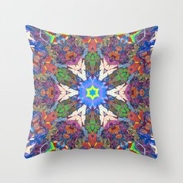 Easter Mandala Throw Pillow