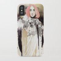 fashion illustration iPhone & iPod Cases featuring FASHION ILLUSTRATION 13 by Justyna Kucharska