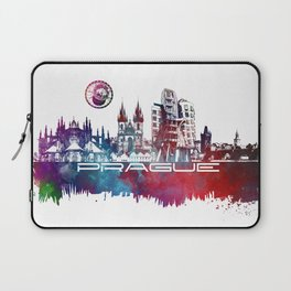 Prague skyline city Laptop Sleeve