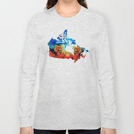 Canada - Canadian Map By Sharon Cummings Long Sleeve T-shirt