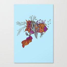 Petal Fish Canvas Print