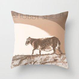 The shubby sheep Throw Pillow