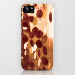 GLAM CIRCLES #Orange #1 iPhone Case