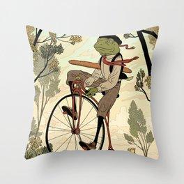 Morning Ride Throw Pillow