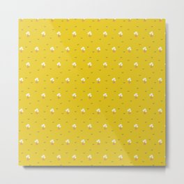 Little floret in sunshine yellow Metal Print