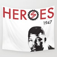 heroes Wall Tapestries featuring HEROES by BALANCE 1947