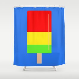 Popsicle fun art Shower Curtain