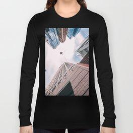 Plane Over New York City Long Sleeve T-shirt