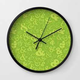 Ampersands - Green Wall Clock