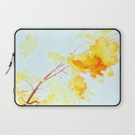 Yellow Maple leaves, Autumn Unfolds Laptop Sleeve