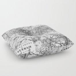 Vintage Paris Map Floor Pillow
