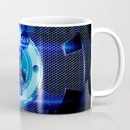 Clef on blue technical design Coffee Mug