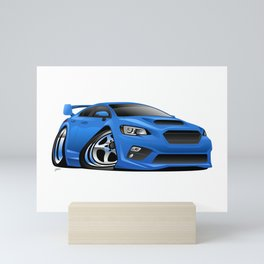 Import Sports Sedan Cartoon Illustration Mini Art Print