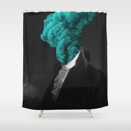 alternative reality - blue Shower Curtain