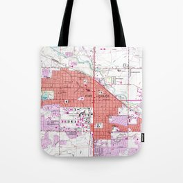 Vintage Map of Fort Collins Colorado (1960) Tote Bag