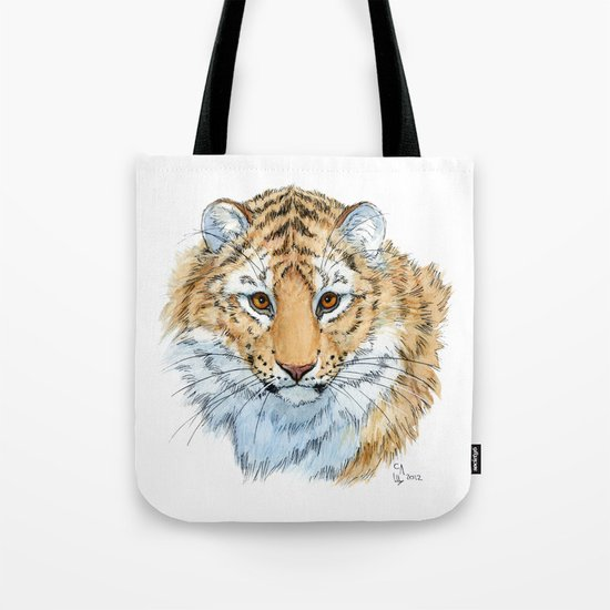 Young Sweet Tiger Tote Bag