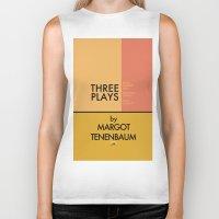 tenenbaum Biker Tanks featuring Three Plays By Margot Tenenbaum by FunnyFaceArt