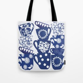 blue teacups Tote Bag