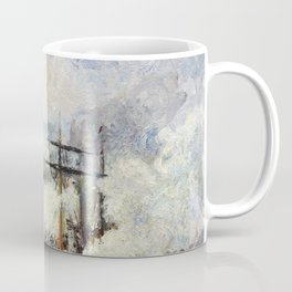 Steamboats In The Port Of Rouen - Digital Remastered Edition Coffee Mug
