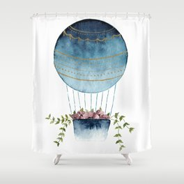 Botanical Hot Air Balloon Shower Curtain