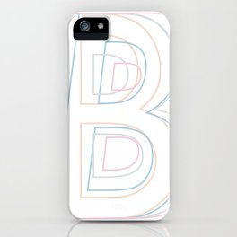 Intertwined Strength and Elegance of the Letter B iPhone Case