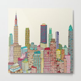 new york modern  Metal Print