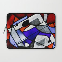 Red and Blue Montreal Stain Glass Window Laptop Sleeve
