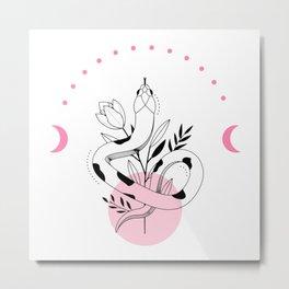 Cute snake art Metal Print