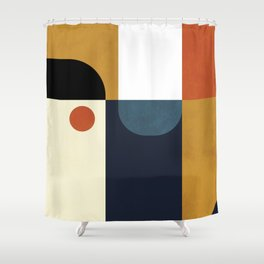 mid century abstract shapes fall winter 4 Shower Curtain