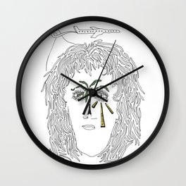 A Taxi and Take off Drawing Wall Clock