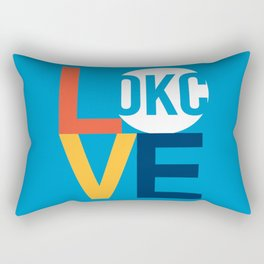 OKC Thunder LOVE Blue Rectangular Pillow
