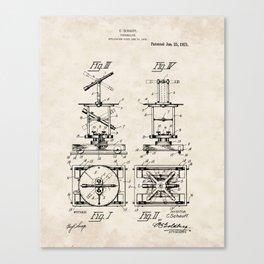 Theodolite Vintage Patent Hand Drawing Canvas Print