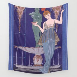 George Barbier The Shell Fountain 1914 Wall Tapestry