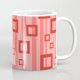 Rectangles Stripes orange Design Coffee Mug