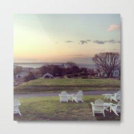 Block Island View at Sunset Print Metal Print