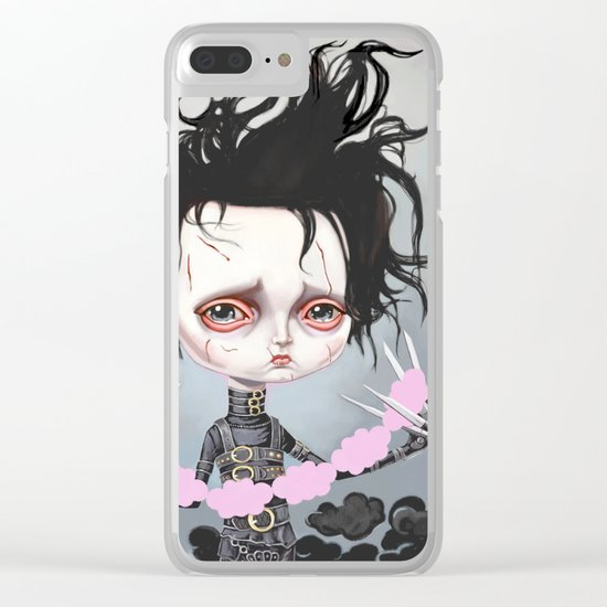 Edward Scissorhands Is Sad Clear iPhone Case