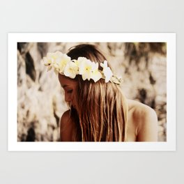 Hawaiian Girl Art Print