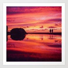 2 friends at the beach Art Print