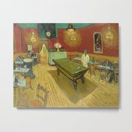 The Night Cafe by Vincent van Gogh, 1888 Metal Print