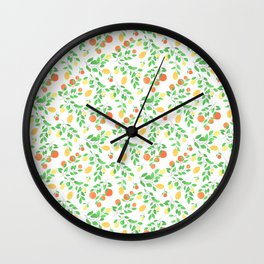 Oranges and Lemons White Edition Wall Clock