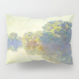 The Seine at Giverny Claude Monet 1897 Impressionist Oil Painting Nature Trees Lake Landscape Pillow Sham
