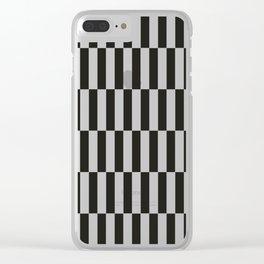 Black checkers scandinavian design Clear iPhone Case