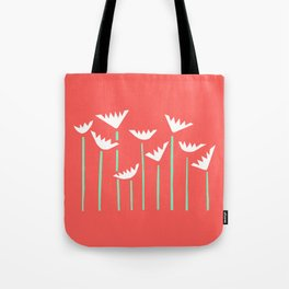 Bright Tropical Collage Tote Bag