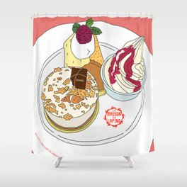 Gorgeous Cake Set Shower Curtain