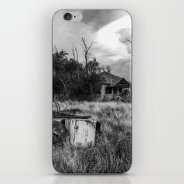 Half Truck - Rusty Old Pickup Bed and Abandoned House in Oklahoma Panhandle iPhone Skin